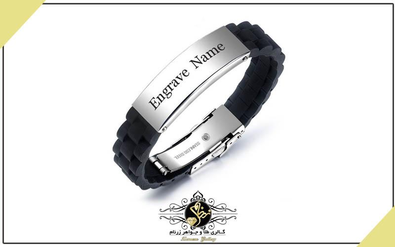 دستبند استیل مشکی
