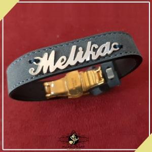 دستبند اسم چرم ملیکا