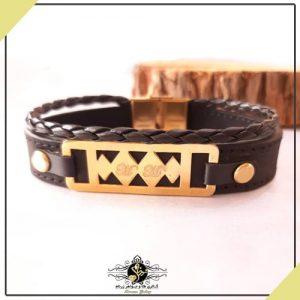 دستبند طرح دار همراه با حکاکی حرف M